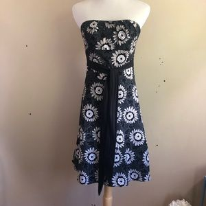 White House Black Market Strapless Floral Dress